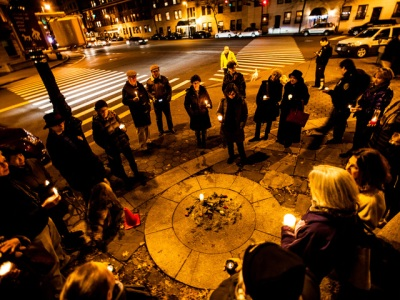 This is a picture from a vigil I attended via dnainfo.com