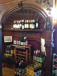 Wine shop insider a Victorian t row house in Wheeling